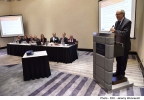 Minister for Finance, Edward Scicluna, delivers opening address at the 16th Meeting of the European Audit Inspection Group, hosted by the Quality Assurance Unit of the Accountancy Board. The Palace Hotel, Sliema