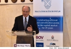 Minister for Finance, Edward Scicluna, delivers an address at the Malta Stock Exchange Annual Dinner Maritime Museum, Vittoriosa