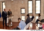 Minister for Finance, Edward Scicluna, and Minister for the Economy, Investment and Small Business, Chris Cardona, address a press conference under the theme 'Malta:Ekonomija B'Saħħitha'  At Government Members' Room, Parliament, Valletta