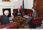 Minister for Finance Edward Scicluna meets with the High Commissioner of New Zealand Patrick John Rata Ministry for Finance, Valletta