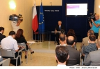 Minister for Finance, Prof. Edward Scicluna, presents the Pre Budget Document 2015. Ministry for Finance, Valletta