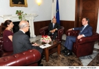 Minister for Finance, Prof. Edward Scicluna receives a courtesy visit from ESMA Chairman Mr. Steven Maijoor Ministry for Finance, Valletta